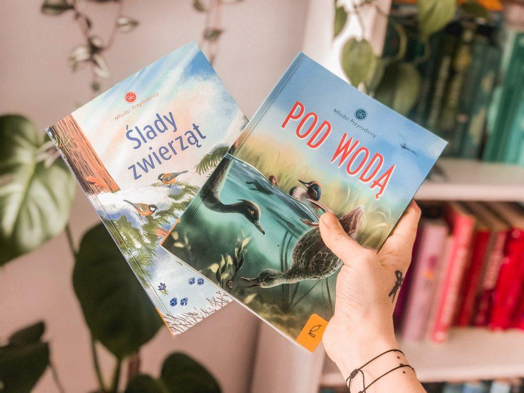 Maja czyta: Ślady zwierząt i Pod wodą